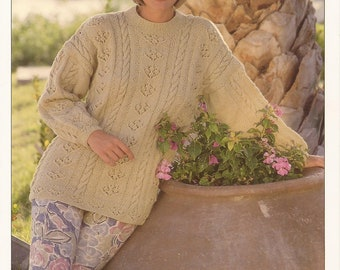 PDF Instant Download Knitting Pattern *Lady's Sweater* Hayfield 4397