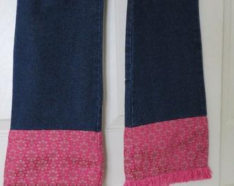 Vintage Jordache Embellished Leg Denim Blue Jeans Size 16 High Waist 29 x 32 Pants