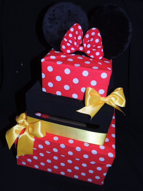 Items Similar To Minnie Mouse Card Box Minnie Mouse