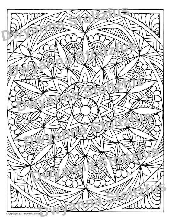 Ganze Seite Mandala 1 Färbung Seite JPG