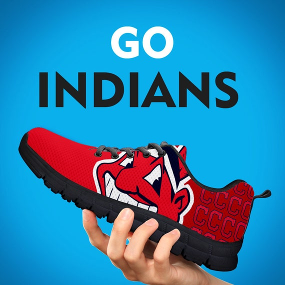 Custom Gift Indians Kids Gift Sizes Gift Womens Cleveland Trainers Collector Mens Running Shoes Sneakers Baseball 1vwwTqBz
