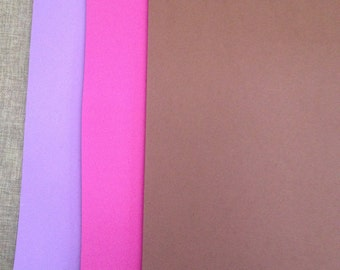 10 A4 sheet in crepe / eva rubber in lilac and brown pink colors