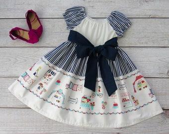 Girl Spring Farmer Market Dress Size 1/2-14