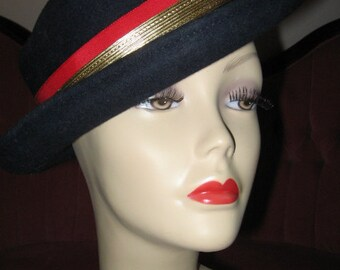 VINTAGE CLASSIC NAVY Blue Hat Nautical Design