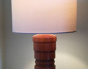 Unique African Sapele hardwood  table lamp 260mm in height
