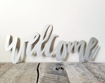 FREE SHIPPING!!!  Welcome Metal Wall Sign, Custom Metal Wall Art, Made in the USA