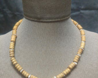 Shell and Wood Necklace