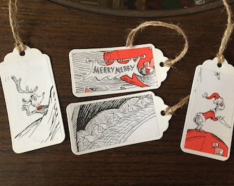 Dr. Seuss How the Grinch Stole Christmas Gift Tags for gift wrap