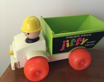 Vintage Jiffy  fisher Price  dump truck