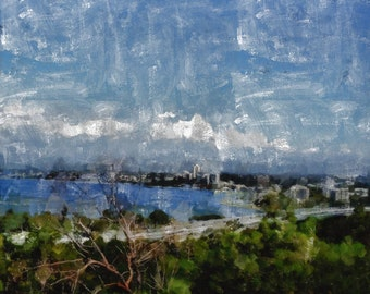 Perth, Western Australia- (triptych panel 3) canvas print