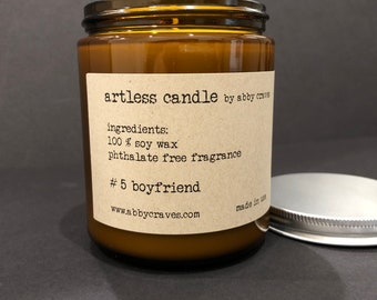 boyfriend soy candle by abbycraves