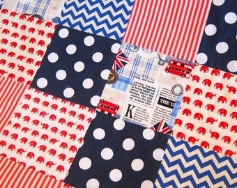 British \ UK themed baby cot quilt