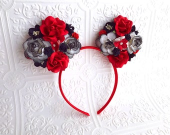 The Black and Red Minnie Garden Goddess Ears