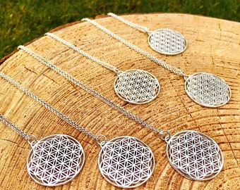 Flower of Life Necklace - SacredGeometry Jewellery -Sterling Silver