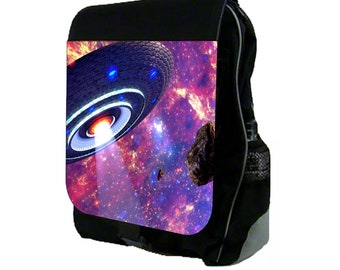 UFO in Galaxy  - Backpack and Pencil Bag Set