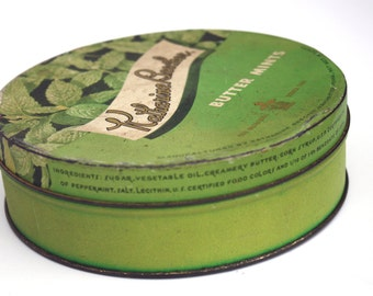 Vintage Katharine Beecher Butter Mints Advertising Tin