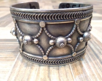 Handmade 925 sterling silver bangle,full adjustable bangle