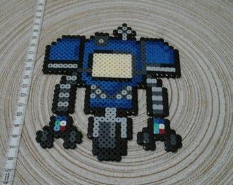 Securitron. Pixel art Fallout universe