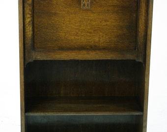 Secretary Desk, Slant Front Desk, Drop Front Desk, Scotland 1920, Antique Furniture, B1048