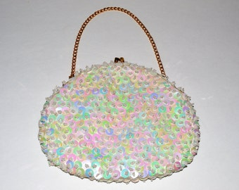 Vintage Sequined and Beaded Purse