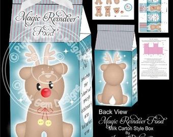 Digital (Digi) 'Magic Reindeer Food' Printable Box with Decoupage Kit