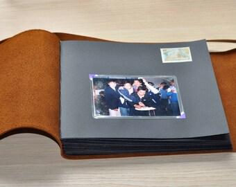 Leather Photo Album, Personalized Photo Album, scrapbook album,Anniversary gifts, Wedding Album, Wedding Guest Book,Collect beautiful moment