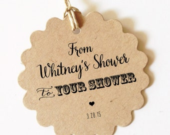 Bridal Shower Tags From my shower to yours tag Personalized Bridal Shower Favor Tags (Lovely)