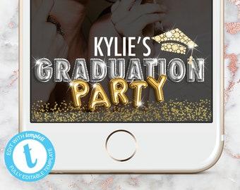 Graduation Snapchat Filter, Gold Graduation Snap Chat Geofilter, Gold Graduation Geotag, Gold Graduation Instant Download Templett Filter