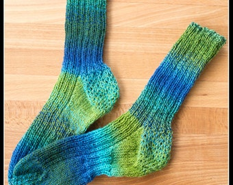 Socks Knitting KIT, Pattern and Yarn Kit, Mijas Colourful Socks, Socks, Socks pattern, Knitting pattern