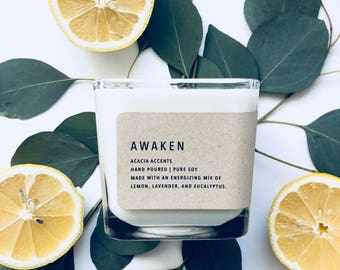 Awaken | Classic Collection | Pure Soy Candle | 12oz Candle | Essential Oil Candle
