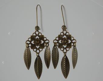 Leaves print earrings