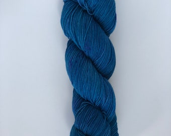 "Hand Dyed Yarn ""Blue Caves"" Blue"
