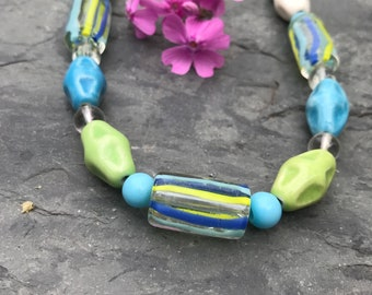 Necklaces For Women, Beach Necklace, Beaded Necklaces, Tropical Necklace,Womans Necklaces, Colorful Necklace