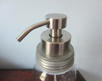 Foaming Soap Dispenser  and Lid in Stainless Steel for Mason Jars