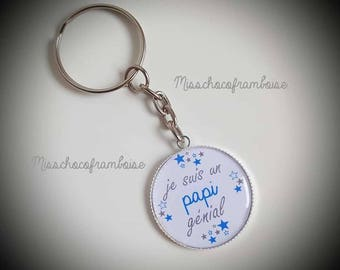 Grandpa Keychain great 25mm cabochon