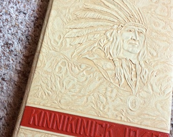 VINTAGE COLLEGE YEARBOOK, Kinnikinick 1948, Native American, headdress, Wa state