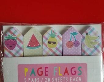 Fruit kawaii page flags