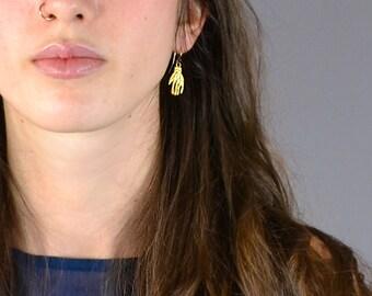 Hands - Gold Earrings