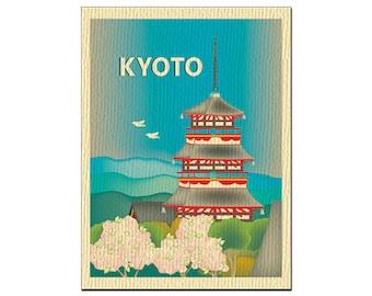 SALE Kyoto, Japan  Greeting Card 4.5 x 5.5 inches, Loose Petals City Art - style O-KYO