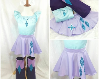 Rare Purple Inspired Top, Skirts, Ears & Boots Kid/Adult/Plus sz avail