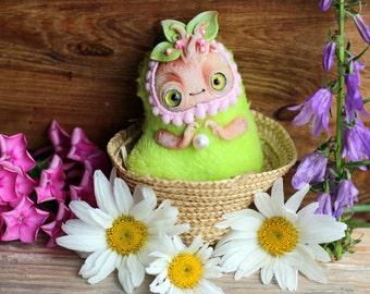 Fantasy Ooak doll miniature polymer clay doll plush cute toy mandrake root mandragora miniature fantasy figurine fantasy toy art