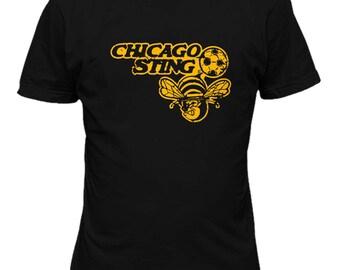 Chicaco Stings Defunct Soccer Football  NASL T Shirt