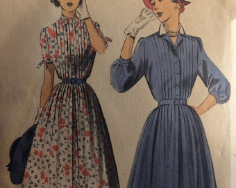 Advance 5393 misses shirtwaist dress size 16 bust 34 vintage 1950's sewing pattern