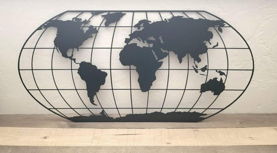 Metal world map wall art map of the world travel gifts all like this item gumiabroncs Gallery