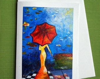 Fantasy 4 - Hand Painted Fantasy Greeting Card