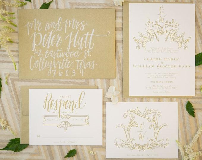 PRINTABLE Wedding Invitation Suite | Frenchie