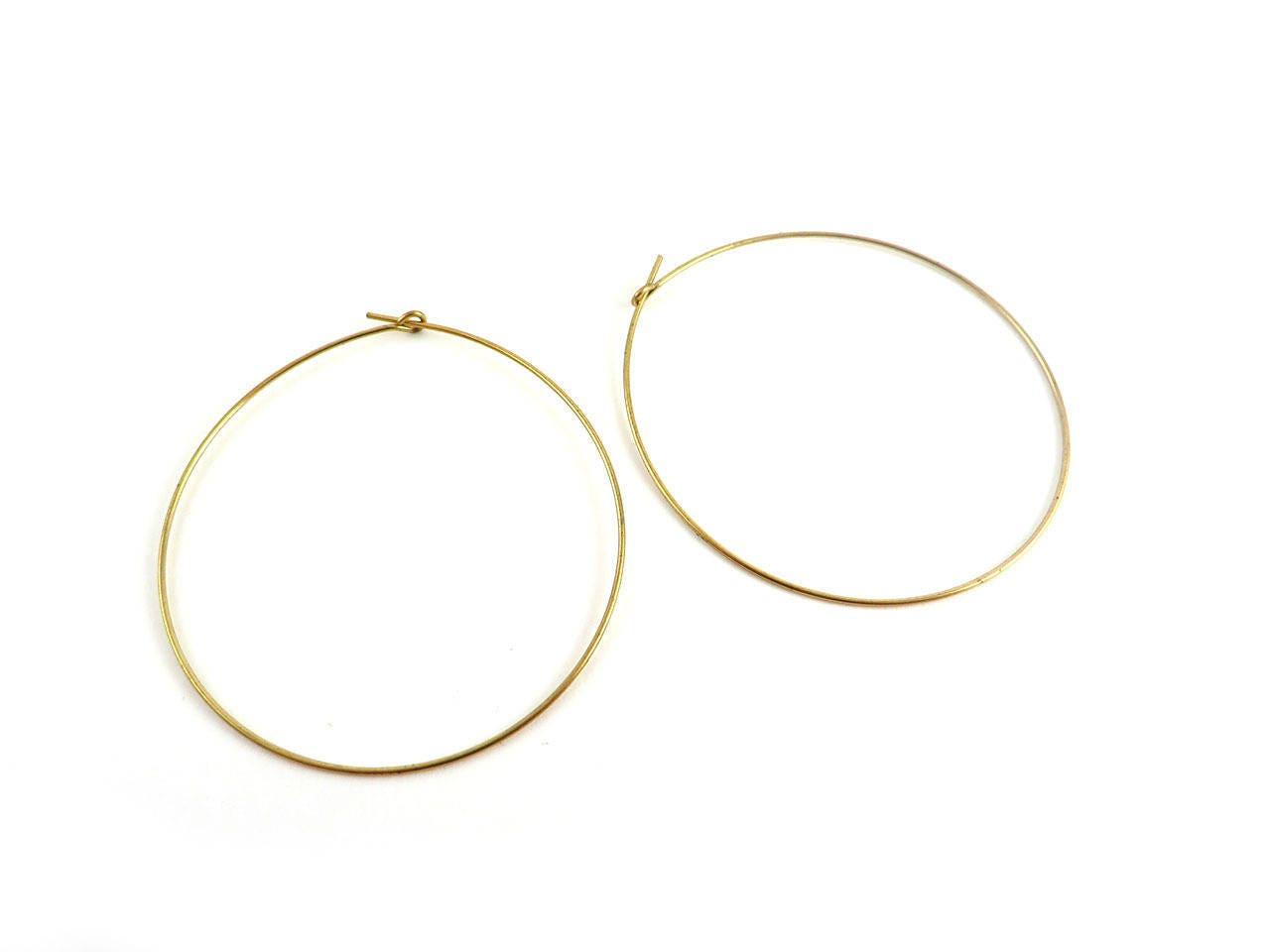 2 große kreolische Ring Ohrringe 22 Gauge 065 mm