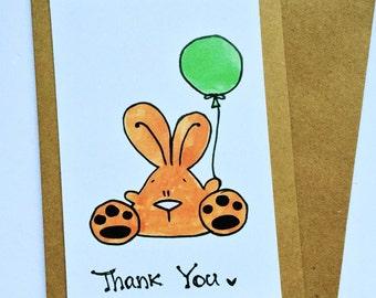 CLEARANCE: Thank You bunny card
