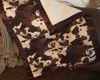 Cattle Print Baby Blanket