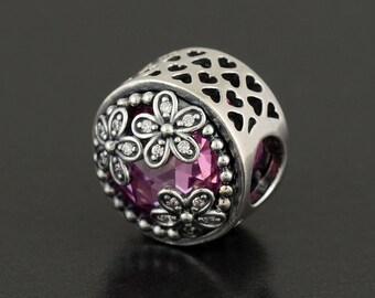 Authentic Pandora Dazzling Daisy Meadow Pink & Clear CZ 792055PCZ